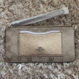 Coach zip top wallet